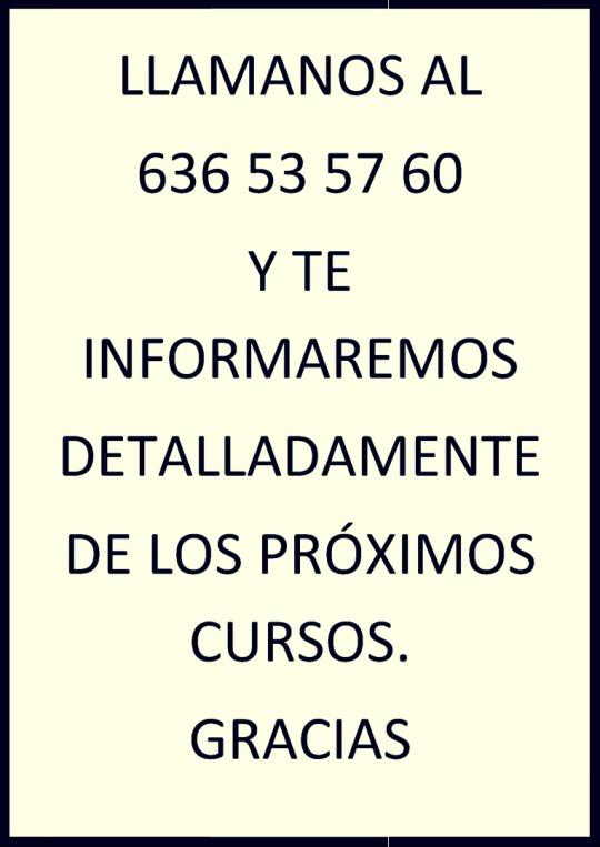 Curso de Manipulador de Alimentos en Villagarcía de Arosa.